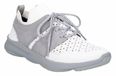 Hush Puppies World BounceMAX Womens Knit Textile Lace Up Trainer