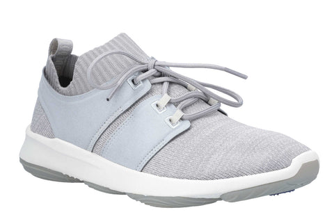 Hush Puppies World BounceMax Lace Up Trainer Cool Grey Knit