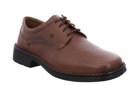 Josef Seibel Talcott 38200 Mens Extra Wide Lace Up Shoe Cognac 49370