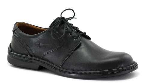 Josef Seibel Walt 27204 Mens Plain Fronted Lace Up Shoe Black 600