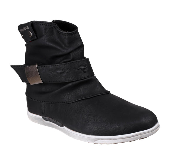 KangaROOS K-Boot Womens Slouch Style Pull On Ankle Boot Black