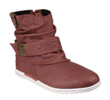 KangaROOS K-Boot Womens Slouch Style Pull On Ankle Boot Brown
