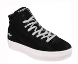 KangaROOS K-Mid Plateau 5072 Womens High Top Lace Up Flatform Sneaker Black