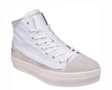 KangaROOS K-Mid Plateau 5072 Womens High Top Lace Up Flatform Sneaker White