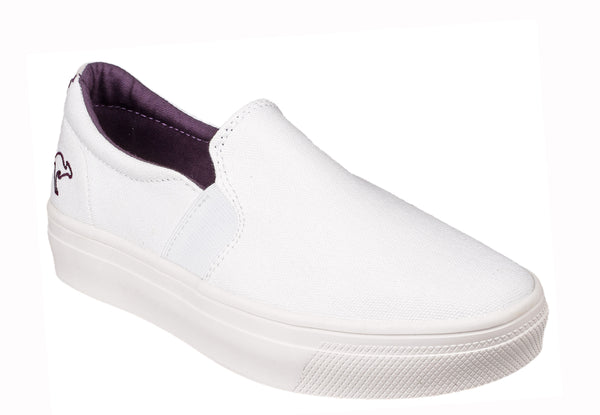 KangaROOS K-Mid Plateau 5092 Womens Slip On Flatform Canvas Shoe White