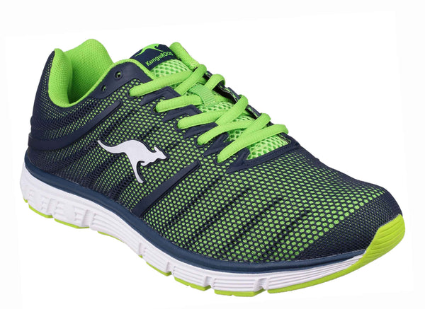 KangaROOS K-Tech 8007 Mens Lace Up Trainer DK Navy/Lime