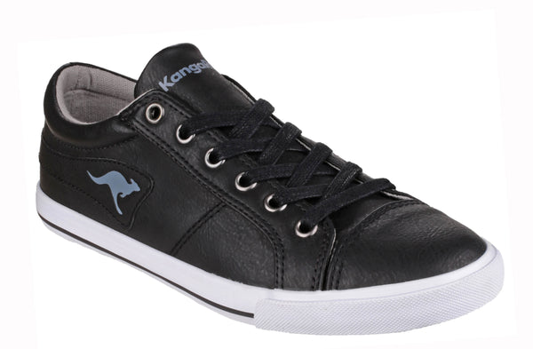 KangaROOS K-Vulca 5054 Womens Low Top Lace Up Sneaker Black