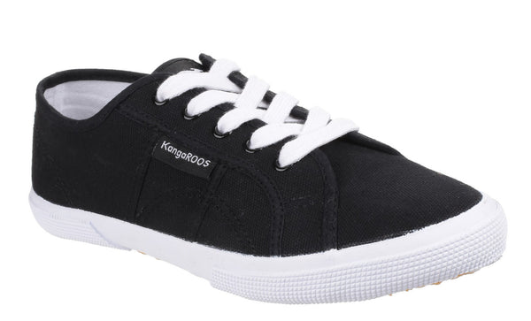 KangaROOS Voyage 3370A Womens Lace Up Canvas Casual Shoe Black