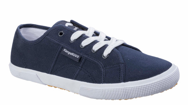 KangaROOS Voyage 3370A Womens Lace Up Canvas Casual Shoe Navy