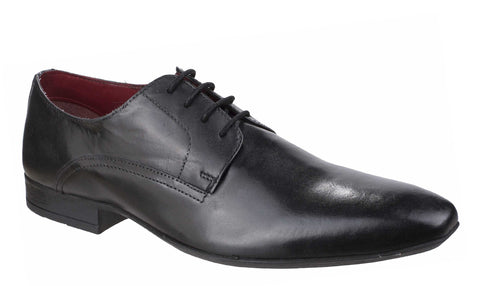 Lambretta Alex Derby Lace Plain Toe Lace Shoe Black
