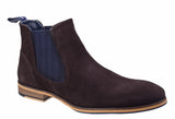 Lambretta Moorgate Mens Suede Leather Formal Chelsea Boot Brown