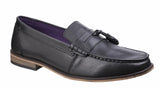 Lambretta Portobello Mens Large Size Tassel Detail Slip On Loafer Black
