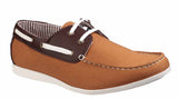 Lambretta Rhode Island Mens Canvas Boat Shoe Tan
