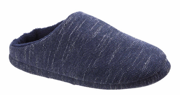 Lambretta SS3473 Mens Warm Lined Mule Slipper Navy