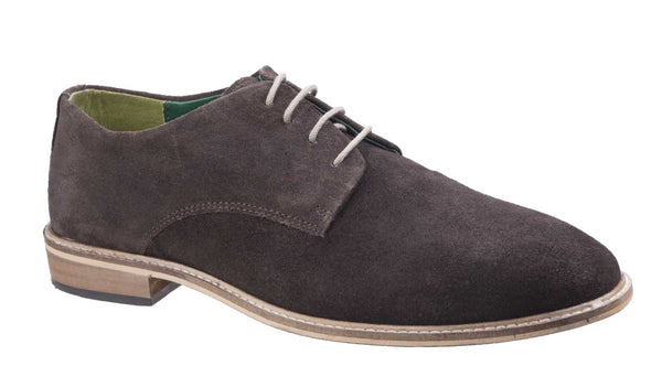 Lambretta Scotts Mens Derby Style Suede Lace Up Shoe Brown S