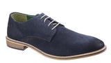 Lambretta Scotts Mens Derby Style Suede Lace Up Shoe Navy S