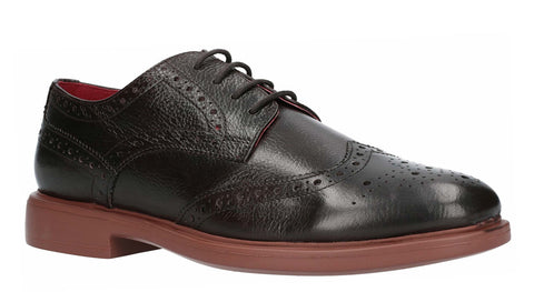 Lambretta Spencer Brogue Lace Shoe Dark Brown