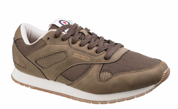 Lambretta Sprint Mens Retro Styled Casual Trainer Dk Brn