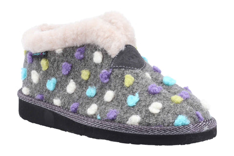 Moshulu Bo Womens Spotty Bootie Slipper