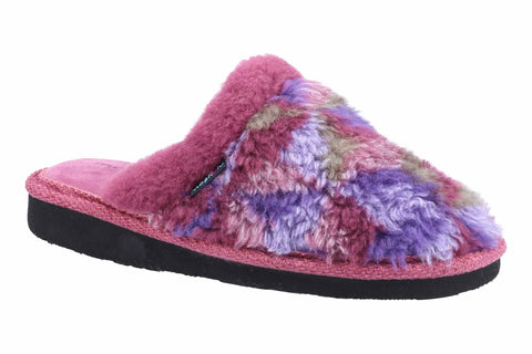 Moshulu Carrie Womens Fluffy Mule Slippper