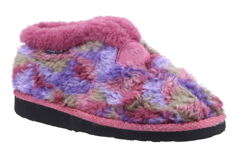 Moshulu Lively Womens Fluffy Bootie Slippper