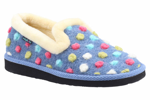 Moshulu Peanut Brittle Womens Spotty Slippper