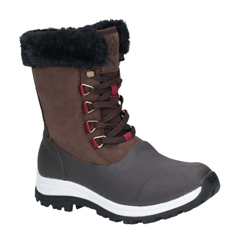 Muck Boots Apres Lace Mid Boot Brown
