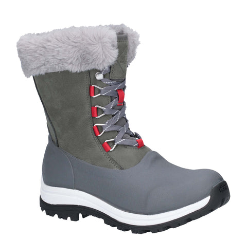 Muck Boots Apres Lace Mid Boot Grey/Red