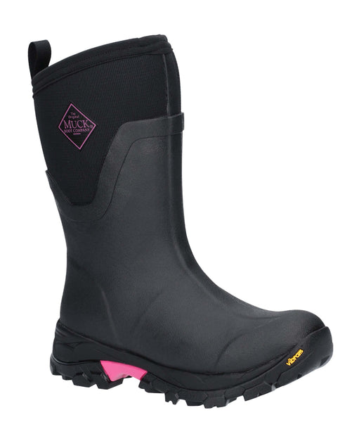 Muck Boots Arctic Ice Mid Boot Black/Pink