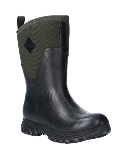 Muck Boots Arctic Sport Mid Pull On Wellington Boot Black/Moss