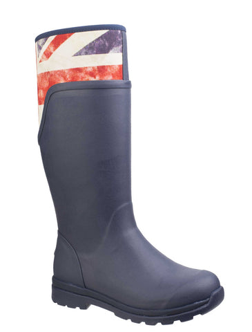 Muck Boot Cambridge Tall Womens Wellington Boot Nvy/Union