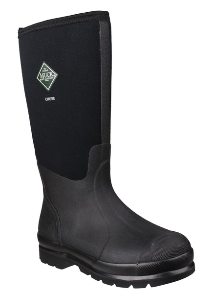 Muck Boot Chore Hi Mens Wellington Work Boot  Black