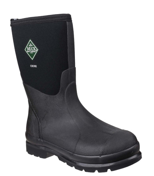 Muck Boot Chore Mid Mens Wellington Work Boot  Black