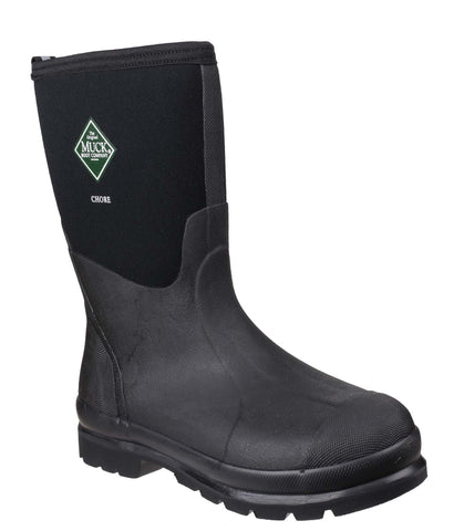Muck Boot Chore Mid Womens Wellington Work Boot Black