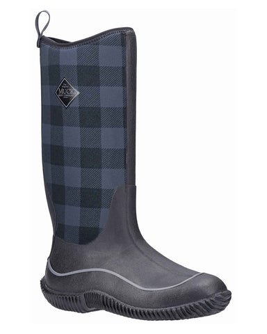 Muck Boots Hale Wellington Black/Grey Plaid