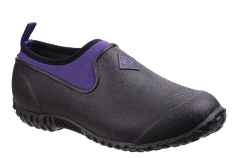 Muck Boot Muckster II Low Womens Slip On Shoe BlackPurple