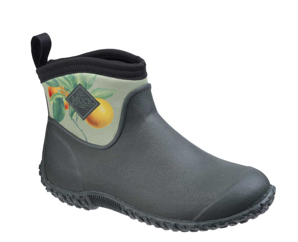 Muck Boot RHS Muckster II Womens Pull On Ankle Boot Grn/Citrus