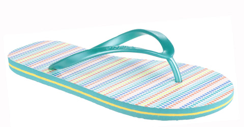 O'Neill Moya Stripe Womens Toe Post Flip Flop Blue
