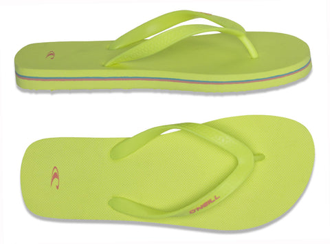 O'Neill Noronha Womens Toe Post Flip Flop Yellow
