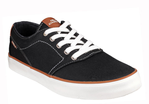 O'Neill Psycho Low Mens Lace Up Canvas Shoe Black
