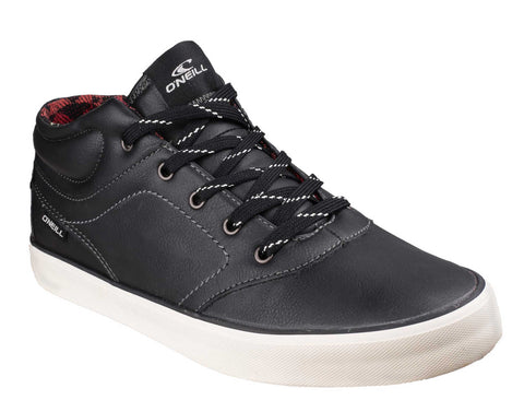 O'Neill Psycho Mid Mens Lace Up Casual Shoe Black