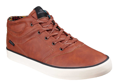 O'Neill Psycho Mid Mens Lace Up Casual Shoe Cognac