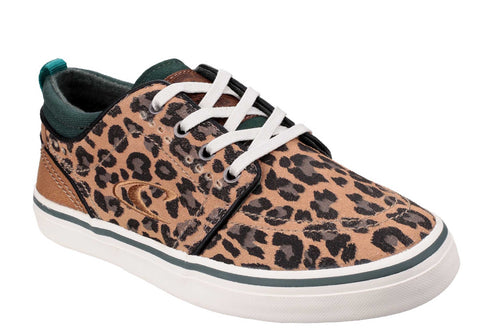 O'Neill Santa Cruz Suede Womens Lace Up Casual Sneaker Leopard