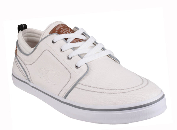 O'Neill Santa Cruz Washed Mens Lace Up Canvas Casual Shoe White