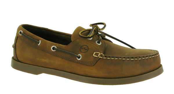 Orca Bay Creek Mens Premium Leather 2 Eyelet Deck Shoe Sand