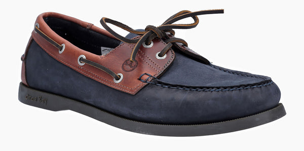 Orca Bay Oakland Mens 2 Eyelet Lace Up Deck Shoe Navy/Brown