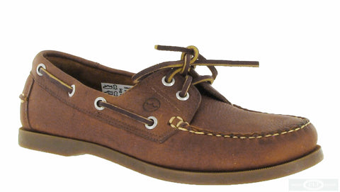 Orca Bay Creek Womens Classic 2 Eyelet Lace Up Deck Shoe Havanna
