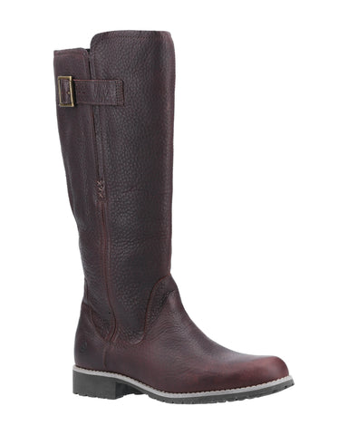 Orca Bay Moreton Womens Long Leg Leather Country Boot Drk Brown