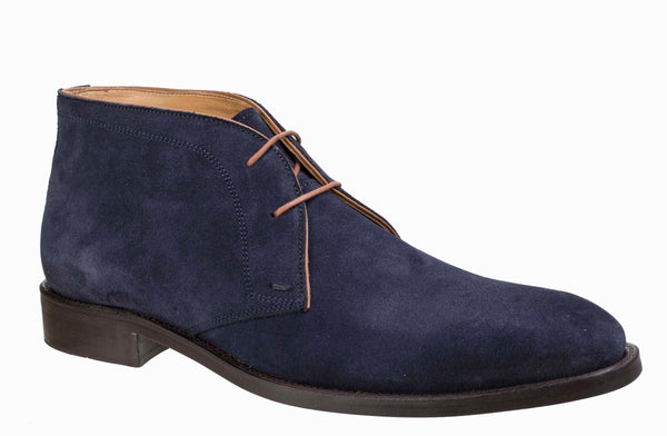 Paradigma 7428 (Eric) Mens Suede Leather Formal Chukka Boot Navy Suede
