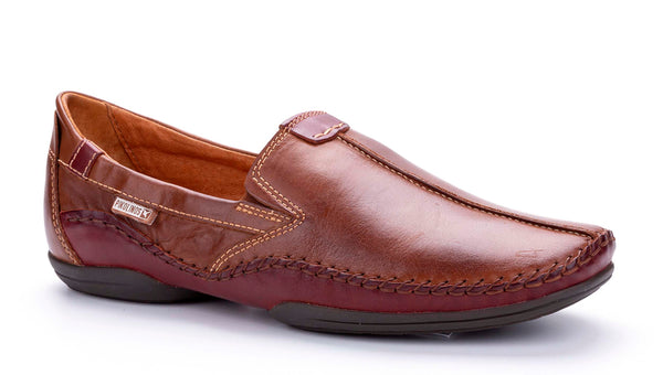Pikolinos 03A-3008 (Penza) Mens Slip On Casual Shoe Cherry/Cuero
